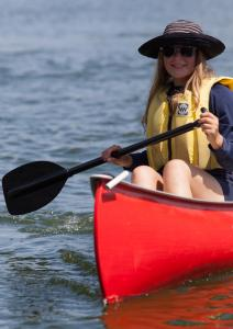 Photo of camper paddling